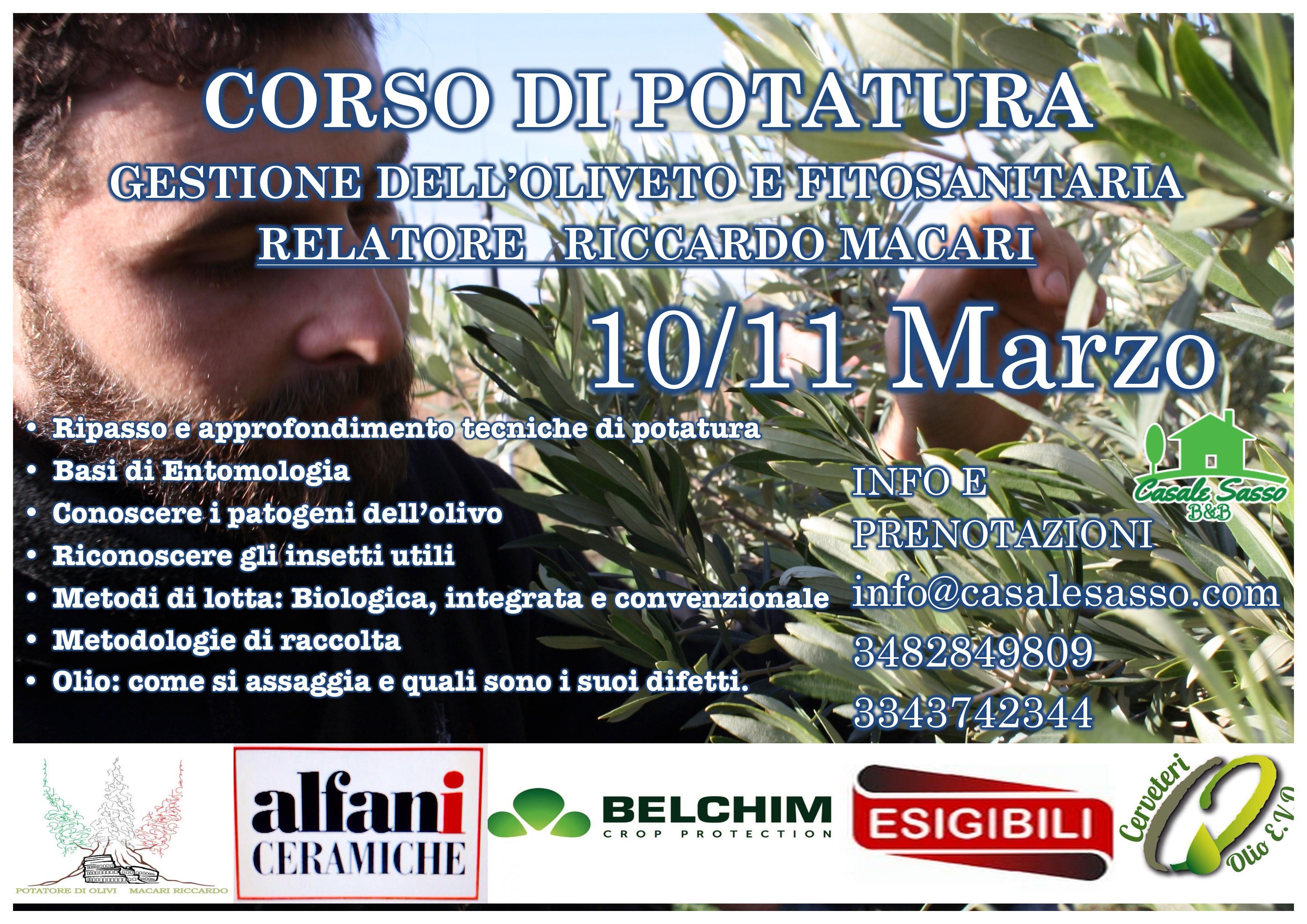 Corso Di Potatura 10/11 Marzo 2018